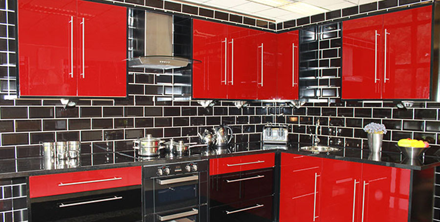 Red Gloss Kitchen Cabinet Doors The Cupboard For Your Home